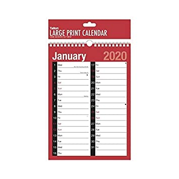 2020 Calendar and Planner Month to View/Week to View (A4 Extra Wide 2  Column Month to View)