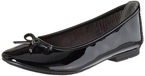 Softline 22163, Ballerines Femme, Noir Noir (Black Patent)