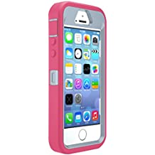 OtterBox DEFENDER SERIES Case for iPhone 5/5s/SE - Retail Packaging - WILD ORCHID (POWDER GREY/BLAZE PINK)