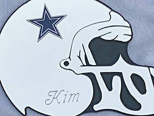 Dallas Cowboys NFL Football Helmet Wall Decor Wall Hanging Personalized Free Engraved Mirror Sign NFL Sports Memorabilia - with Your Name On ()