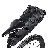 GARDOM Waterproof Bike Saddle Bag, Cycling Seat Bag Sports Saddle Bag, Lightweight 10L Bike Tail Bag Storage Bag for MBT or Road Bike Seat