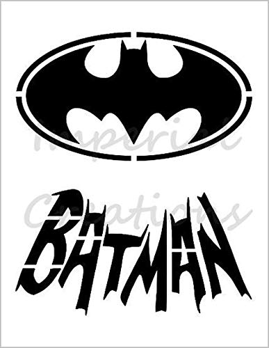 BATMAN Bat Logo Name Superhero Comic Cartoon 8.5