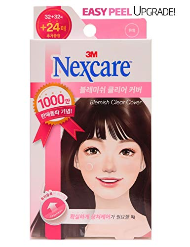 Nexcare Blemish Clear Cover, Acne Absorbing Cover, Easy Peel Upgrades Versions, Pimple Patch, 88 Count X 1 Pack (88Count)