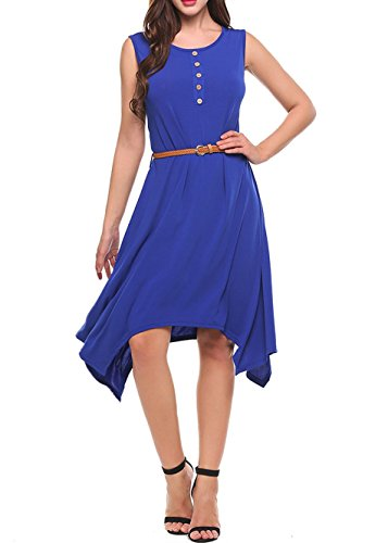 Buy asymmetrical belted dress - 4