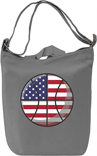 USA Basketball Borsa Giornaliera Canvas Canvas Day Bag| 100% Premium Cotton Canvas| DTG Printing|