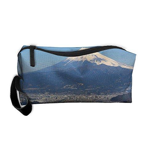 (EWSDa Mt. Fuji And Yokohama Japan Financial Cosmetic Bag Unisex Multifunctional Receiving Bag )