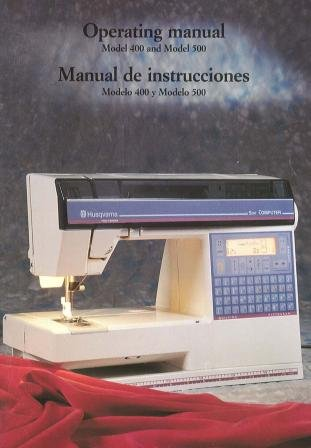 Husqvarna Viking 400 500 Computer Sewing Machine COLOR Comb-Bound Copy Reprint Manual User's Guide
