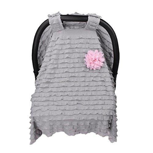 - Dinlong Maternity Baby Stroller Sunshade Newborn Car Seat Carriage Blanket Sun Shade Rayshade Cover Basket Safety Cradle Cap Bassinet Canopy Visor (Gray, 37.4x29.5 inches / 95x75 cm)