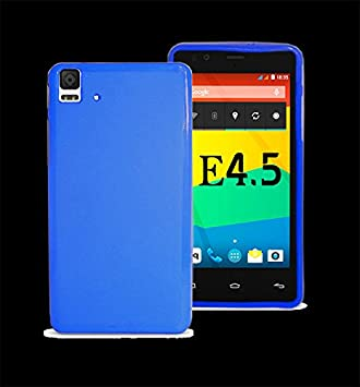 Carcasa Funda Silicona Gel Flexible para BQ Aquaris E4.5 E 4.5 Color Azul
