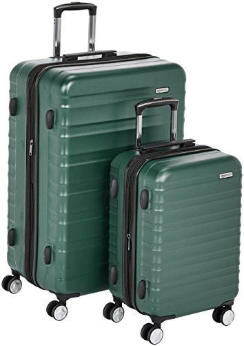 AmazonBasics Premium Hardside Spinner Luggage with Built-In TSA Lock - 2-Piece Set (21