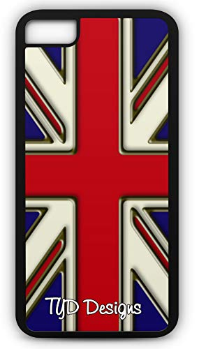 iPhone 8 Case Union Jack Flag British England Monarch United Brexit Customizable by TYD Designs in Black -