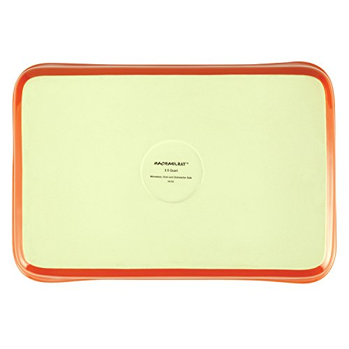 Rachael Ray 50617 Stoneware Square Baker, 2 quart, Orange