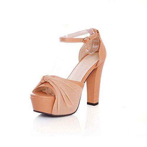 Sandales souple Matière strass balamasa à Boucles Mesdames abricot Métal robe pqnS0F