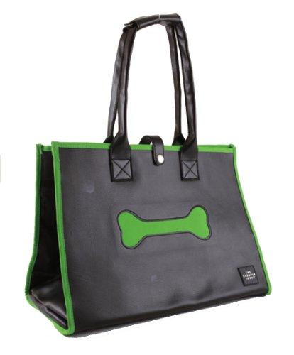 the-sharper-image-handbag-style-pet-carrier-black-with-lime-trim