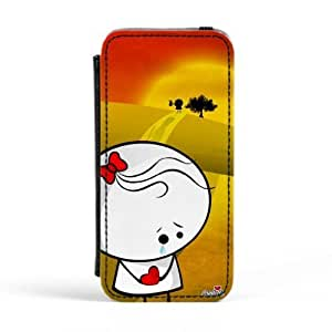 Goodbye Premium Faux PU Leather Case, Protective Hard Cover Flip Case for Apple? iPhone 5 / 5s by Madotta + FREE Crystal Clear Screen Protector