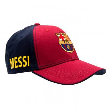 Fc Barcelona Messi Cap   Great Hat With Barcelona Team Colors And Crest   Features  Messi  On Side   Velcro Back   One Size Fits Most   Official Fc Barcelona Product   Messi