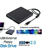 Metermall 3.5 Inch Portable External Floppy Disk USB 2.0 Drive 1.44Mb Reader FDD PC Laptop