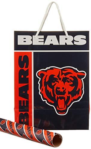 Chicago Bears Gift Bag/Gift Wrap 2 Pack