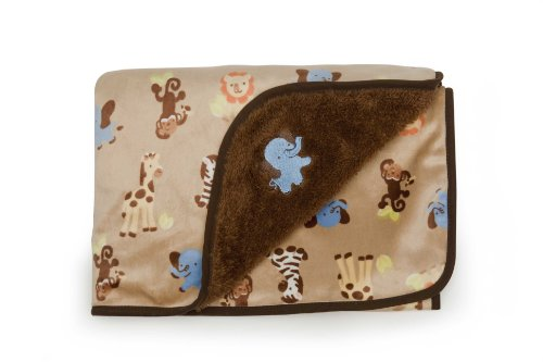 Kidsline Basket - Kids Line Velour Blanket with Sherpa Back, Elephant