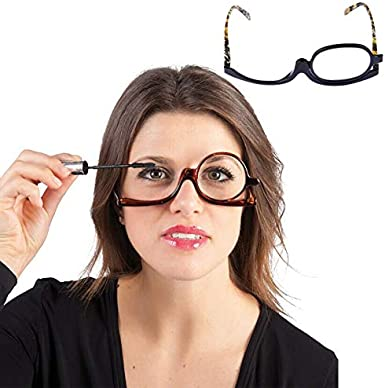 Milya Make-Up Schminkbrille Rotatable Flip Up Brille Drehbare Lesebrille Presbyopie Brille Sehhilfe Lesehilfe mit St/ärke