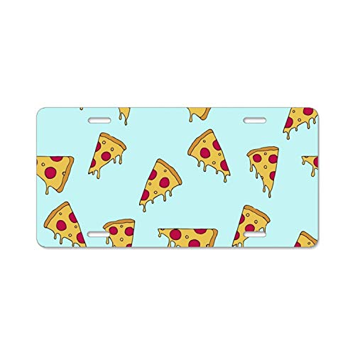 LOVEUIO The 'Fyre Festival Pizza License Plate Frame 4 Holes