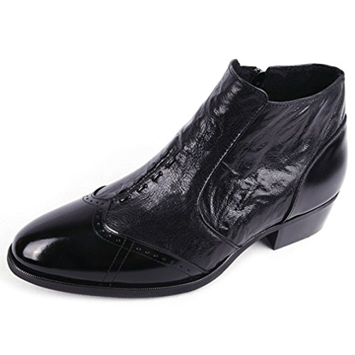 Wingtip Zip Genuine EpicStep Chelsea Cow Dress Stylish Ankle Black Shoes Business Mens Leather Formal Boots xwzqFpzXWf