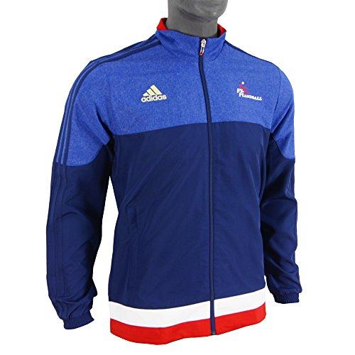 Veste adidas présentation FFHB Bleu 2015
