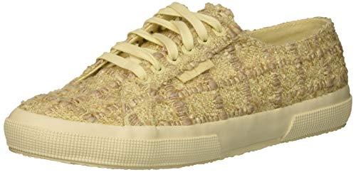 Superga Women's 2750 TWEEDMELW Sneaker, Boucle Black, 38 M EU (7.5 US) -