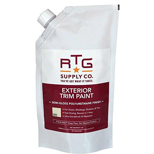 RTG Exterior Trim Paint (Quart, Simply White)