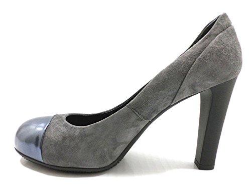 scarpe donna HOGAN decolte grigio camoscio vernice AZ160