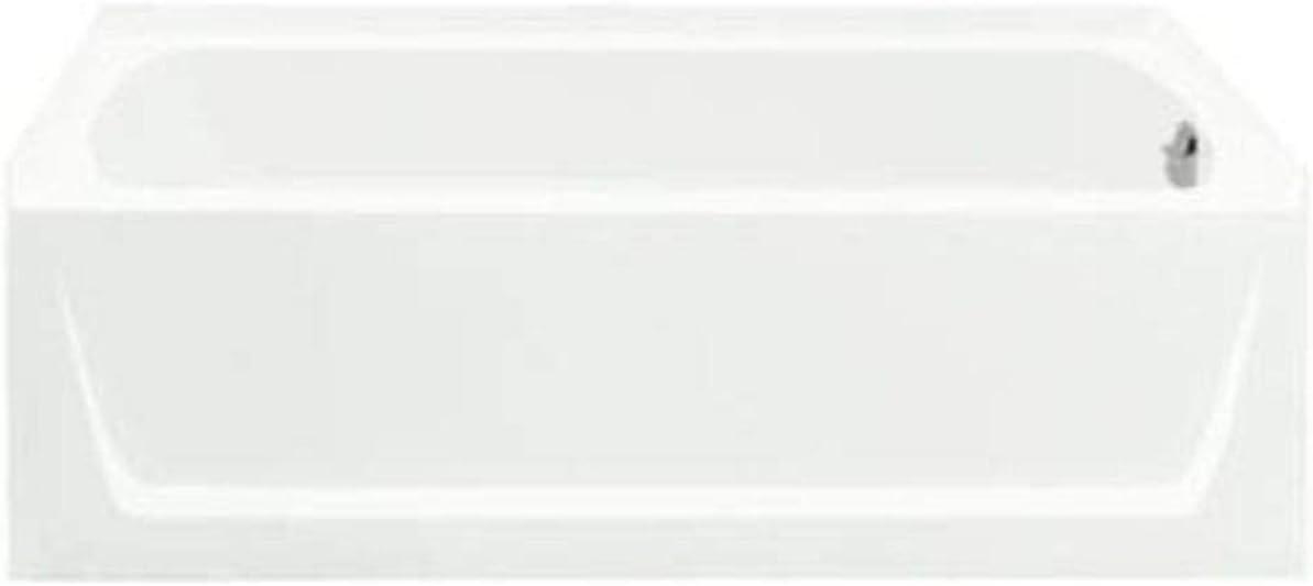 White Sterling Plumbing 71171122-0 Ensemble Vikrell Right-Hand Drain Rectangular Skirted Bathtub 60-in L x 30-in W x 18.75-in H