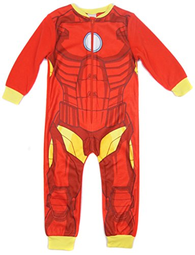 Boys Iron Man Avengers All in One Pyjamas Sleepsuit Soft Fleece Sleepwear (5-6 Years, Iron Man) ()