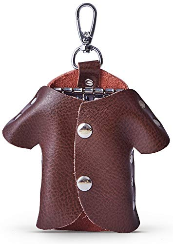 Key Chains for Mens, Creative Clothes Key Fob Case, Leather Car Key Chain, Car Key case, Keychain Wallet (Brown) from ZADA