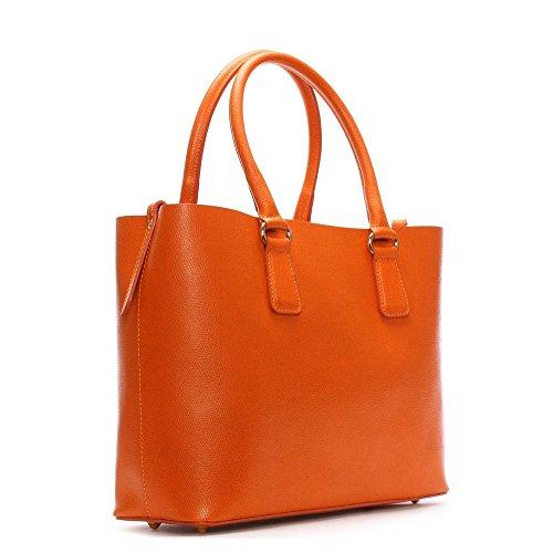 Daniel Member Orange Leather Tote Bag Orange Leather
