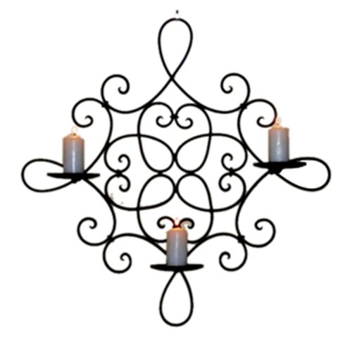 iron wall decor candle holders wall sconce  large