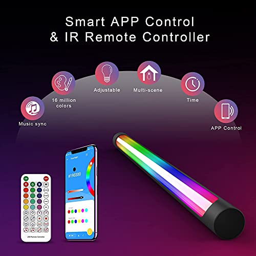 sylvwin Smart LED Light Bars,RGB Color Changing Gaming Lights with Music Sync ,Ambiance Backlights with 142 Scene Modes and 18 Music Modes, RGB Light Bars for TV, Gaming,PC,Entertainment-APP Control