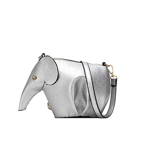 Bag Elephant Rrock Candy Cartoon Messenger Bag Personality Small Color Leather Mini Black Clutch Stereo Bag Women's Bag PU Shoulder FwwnCH4qTz