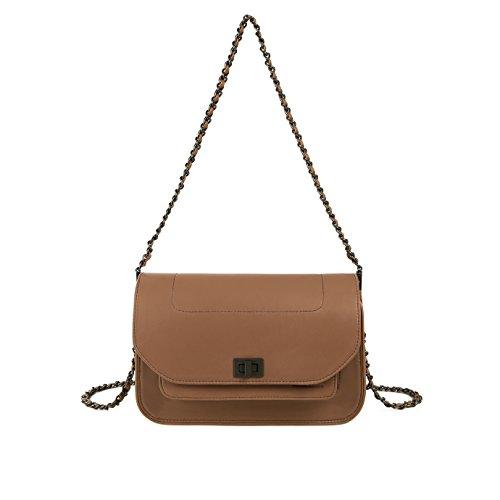 Bag Dark Camel - RABEANCO WING Shoudler Bag - #83560 (Dark Camel)
