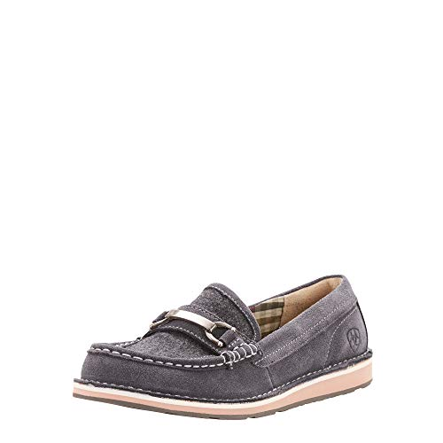 Ariat Women's Ivy Cruiser Moccasin, Grey/Wool, 7.5 B US