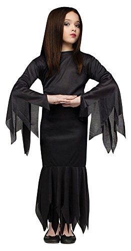 [Girls Halloween Costume- Morticia Kids Costume Medium 8-10] (Addams Family Girl Halloween Costume)