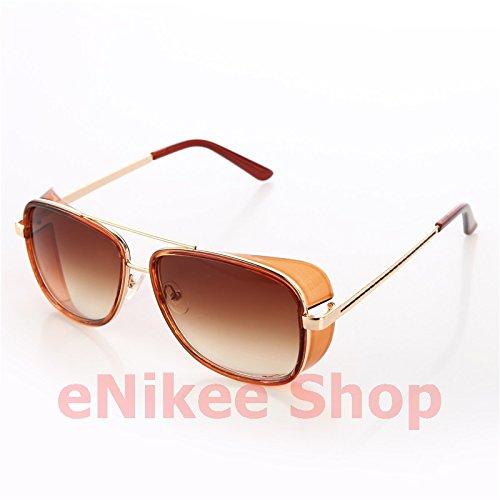 NEW!!!!Models Tortoise Sunglasses IRON MAN TONY Stark 3 Steampunk Men Mirrored Matsuda UV400 - Iron Man Stark Sunglasses 3 Tony
