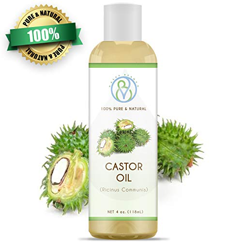Castor Oil Cold Pressed 100% Natural Therapeutic Grade Carrier 4 oz Ideal For Moisturizing & Healing Dry Skin and Itchy Scalp, Helps Hair Growth, Eyelashes, Eyebrows