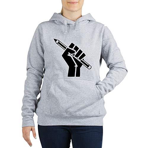 CafePress Writer Power Women's Hooded Sweatshirt Light Steel