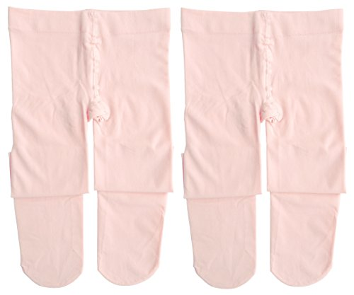 (Dancina Toddler Dance Tights Girls Ballerina Soft Stockings S (3-5) Ballet Pink x2)