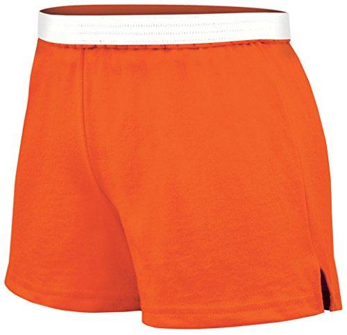 Practice Knit Cheerleading Shorts Orange X-Small
