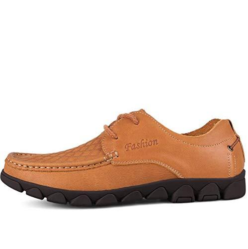 Zapatos Nuevos Qzny color Negocios Un Casuales Cuero Transpirable Un 42 Ocasionales De Hombres Cabeza 2018 Para Tamaño 1wqdwH