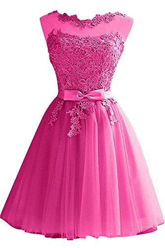 rosa Vestido mujer 46 trapecio para Topkleider AIB6nq