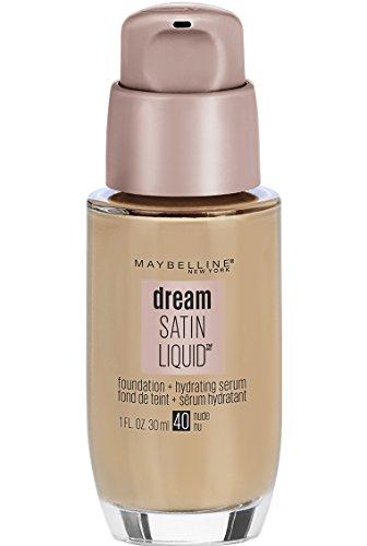 Maybelline New York Dream Satin Liquid Foundation (Dream Liquid Mousse Foundation), Nude, 1 fl. oz. (Best Full Coverage Satin Finish Foundation)