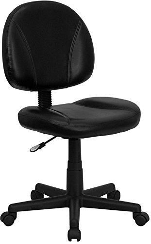 ComfortScape Mid-Back Black Leather Ergonomic Swivel Task Chair by ComfortScape