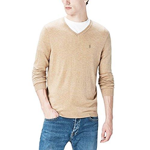 Polo Ralph Lauren Mens Pima Cotton V-Neck Sweater (Natural , (Polo Cotton Sweater)
